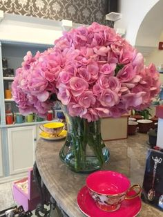 Beautiful pink hydrangeas from our wonderful neighbors at Pigmont