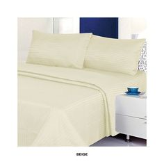 4-Piece Set: Dobby Stripe Sheets Ensemble - Assorted Colors at 81% Savings off Retail!