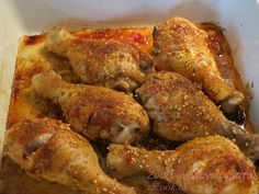 Chicken Drumsticks, Chicken Wings, Vet Cake, Fun Cooking, Cooking Recipes, Greek Recipes, Bbq Grill, Healthy Snacks, Chicken Recipes