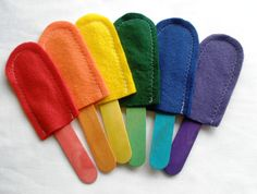 Popsicle Color Matching Game by feltyfun on Etsy, $6.75