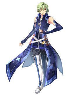 The Legend of Heroes - Hajimari no Kiseki Wazy Hemisphere Cosplay Costume Character Art, Character Design, Character Reference, Trails Of Cold Steel, The Legend Of Heroes, Dragon Warrior, Handsome Anime Guys, Sexy Men, Sexy Guys