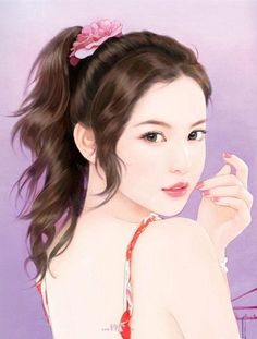 The best offering one can make to the Buddhas and their teachers is to put the Dharma into practice. So it has been said by previous masters. People Illustration, Illustration Girl, Korean Art, Asian Art, Anime Korea, Art Chinois, Lovely Girl Image, Cute Cartoon Girl, Digital Art Girl