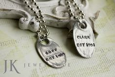 Wedding or shower gifts are easy with JK's personalized jewelry.