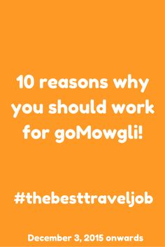 #thebesttraveljob   December 3, 2015 onwards