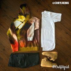Today's top #outfitgrid is by @coryjking. ▫️#Givenchy #Hoodie ▫️#PremiumCo #TerryTee ▫️#DiorHomme #Denim ▫️#NikeSportswear #flatlay #flatlayapp #flatlays