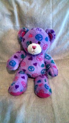Build A Bear 14 In Purple Peace Bear Stuffed Animal Plush #BuildaBear #AllOccasion