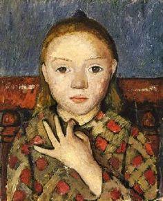 Modersohn-Becker, Paula : portrait de fille.