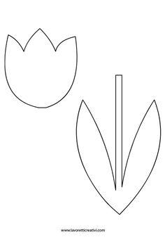 Primavera   Sagoma tulipano