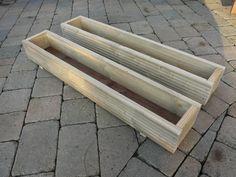 2 x 1000mm long wooden window box / freestanding planter