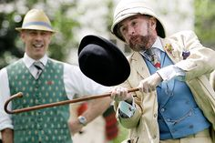 Bizarre yet brilliant: Chap Olympiad 2012 at Bedford Square – the Gentleman's Golf Club event Jazz Age Lawn Party, Twelfth Night, Olympics, Riding Helmets, Gentleman, Captain Hat, Bedford Square, Hats, Pictures