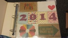 2014 project life title page with kraft edition core kit