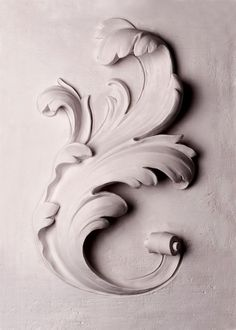Geoffrey Preston Ltd is a small, artist led company, specialising in fine new decorative plasterwork. Filigree Tattoo, Grand Art, Ornament Drawing, Plaster Art, Wood Carving Art, Grisaille, Carving Designs, Filigree Design, Pattern And Decoration