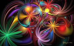 Colorful Flower Abstract Wallpaper and Background Image Fractal Images, Fractal Art, Colorful Wallpaper, Wallpaper Backgrounds, Rainbow Wallpaper, Kaleidoscope Art, Fractal Design, Cellphone Wallpaper, Psychedelic Art
