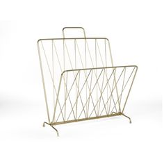 Where better to display your favourite titles than a new magazine rack like this copper design from Present Time? Magazine Stand, Magazine Holders, Time Magazine, Wooden Magazine Rack, Christmas Chair, Design3000, Wooden Side Table, Quirky Home Decor, Sofa Sale