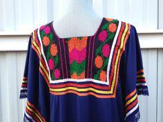 Vintage Bohemian woven detail hippie dress by VintageMindedMaven #hippie #vintage #bohemian