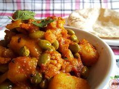 Authentic Aloo Gobi Curry or subji(also referred as Cauliflower Potato Curry) is best ever recipe from main course served with rice or roti. It is del....