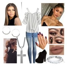 """""""Makayla Lily Rodriguez"""" by loki-snape-lover-from-wattpad ❤ liked on Polyvore featuring WithChic, New Look, West Coast Jewelry and Etcetera"""