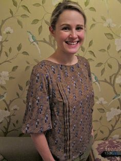 Lauren (she of Great British Sewing Bee fame) and her version of Tilly's (Tilly and the Buttons, GBSB) 'Mathilde' blouse