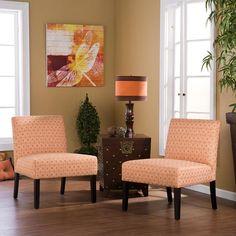 Fun orange chairs