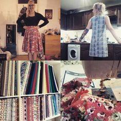 SOIshowoff October: Amazing weekend dressmaking at Sew Over It. Circle skirt and a shift dress. Loved the cafe and I can't wait to do more courses!!