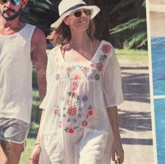 Flicking through the mags and stumble upon our dress worn by TV presenter @anamarquestv  summer don't leave us just yet! #anamarques #christophesauvat #christophesauvatgirls #magazine #press #paparazzi #hippiechic #bohemian #bohocool #summer