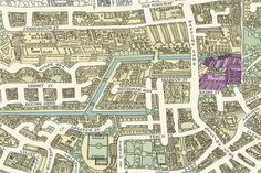 Wapping map detail by Andrew Joyce. Note Knighton - area of John Knight soap works.