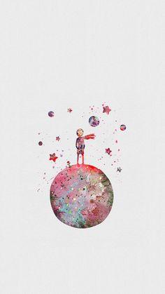 The Little Prince/ Le petit Prince Handy Wallpaper, Screen Wallpaper, Wallpaper Space, Pattern Wallpaper, Tumblr Wallpaper, Wallpaper Backgrounds, Wallpaper Mundo, Orange Wallpaper, Wallpaper Quotes