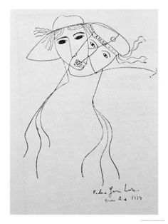 Drawing to Illustrate One of His Own Poems, Made in Buenos Aires, 1919 Giclee Print by Federico Garcia Lorca at Art.com