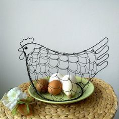 Easter Crafts, Wire Wrapping, Serving Bowls, Decorative Bowls, Metal, Tableware, Decorations, Sewing, Home Decor