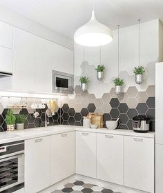 New Kitchen Tile Backsplash Cream Sinks Ideas Kitchen Colors, Kitchen Flooring, Kitchen Backsplash, Kitchen Cabinets, Backsplash Ideas, Dark Cabinets, Tile Ideas, Mosaic Ideas, Kitchen Island