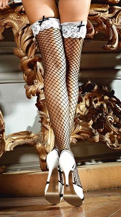 b61afe9e2924ec Sexy Stockings: Thigh Highs & Sexy Pantyhose. Black FishnetsFishnet  StockingsSatin BowsColor ...