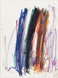 Untitled, 1989. Pastel on paper, 15 3/4 x 11 3/4 inches (40 x 29.8 cm). Collection of the Joan Mitchell Foundation, New York.    © Estate of Joan Mitchell.