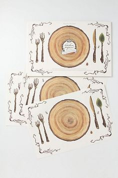Bark Paper Placemats   #anthropologie
