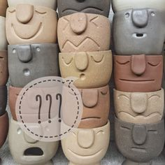 Moodie Mystery Box of 4 Handmade Ceramic Planters for Succulents or Airplants Pottery Pots, Ceramic Pottery, Ceramic Art, Slab Pottery, Thrown Pottery, Ceramic Bowls, Face Planters, Diy Planters, Ceramic Planters