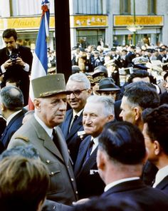General de Gaulle, February 1968, at Verdun in eastern France