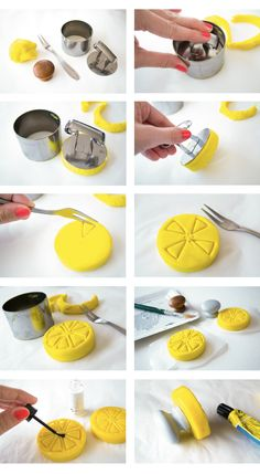DIY : un tampon à pâtisserie handmade pour des biscuits estampillés citron