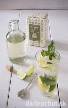 Mätový sirup – Mojito Mojito, Diy And Crafts, Smoothie, Food And Drink, Pudding, Sweets, Homemade, Drinks, Ethnic Recipes