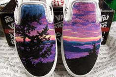 S.T.E.P. Custom Hand Painted Shoes. $120.00, via Etsy.