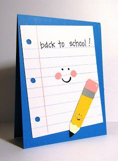 Cute back to school card for my students