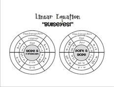 """Linear Equations """"Bullseyes"""""""