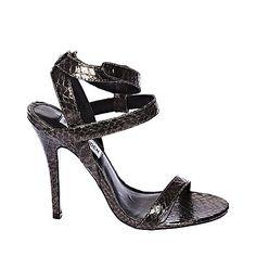RIVITING BLACK womens dress high ankle strap - Steve Madden