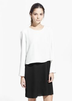 Contrast dress | MANGO