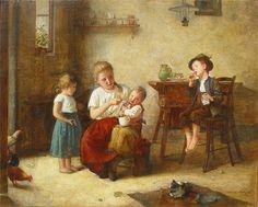 Edmund Adler (Austrian, 1871-1957) Bubbles.