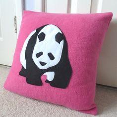 raspberry panda pillow cushion