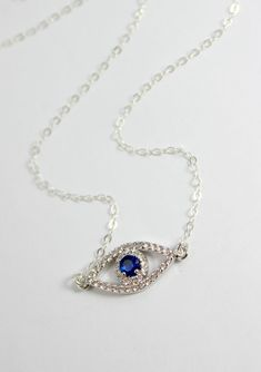 Sterling Silver Evil Eye Necklaces Kabbalah Jewelry Women by divinitycollection $45.00  You can have any necklace custom made just for you!  Free shipping on Thanksgiving Day!