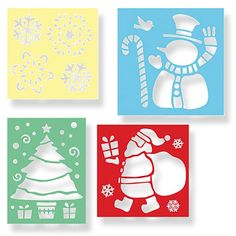 Great stencil for Chirstmas..last used this with snow spray on the windows..loved it!