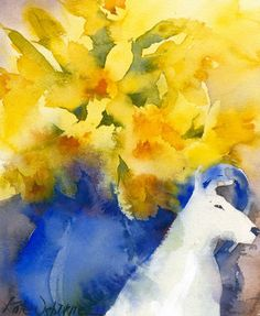 KO.88 old china - limited edition giclee print Watercolor Projects, Easy Watercolor, Watercolor Flowers, Kate Osborne, Daffodils, Lovers Art, Pet Birds, Giclee Print, Artist