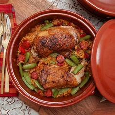 Quick chicken & Spanish chorizo paella