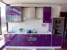 Resultado de imagen para cocina color morado