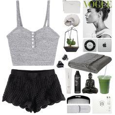 lazy day by loveliness-ccv on Polyvore Lingerie, Sleepwear & Loungewear - http://amzn.to/2ij6tqw